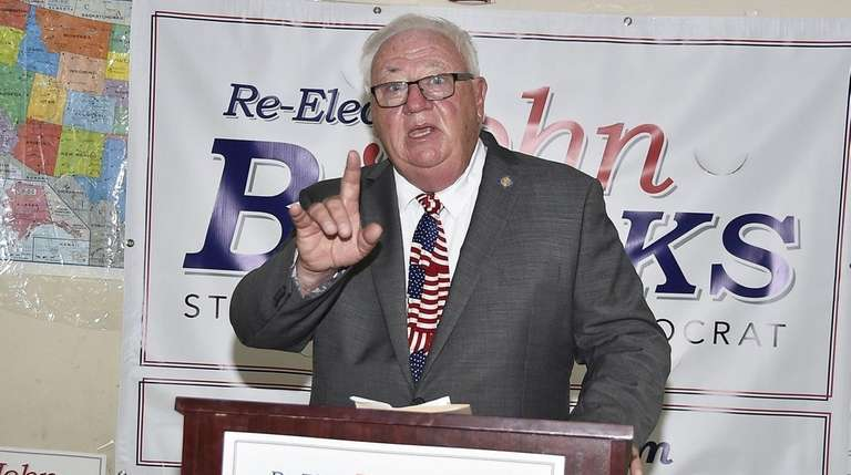 State Sen. John Brooks at a re-election rally