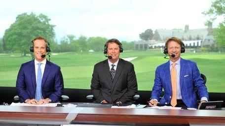From left, Fox Sports' U.S. Open golf announce