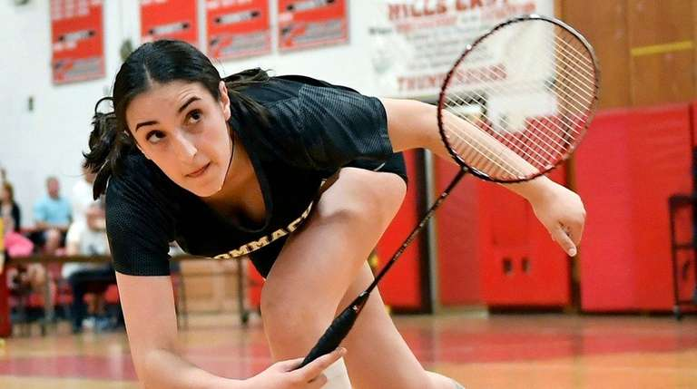Commack's Emily Haber follows through on her shot