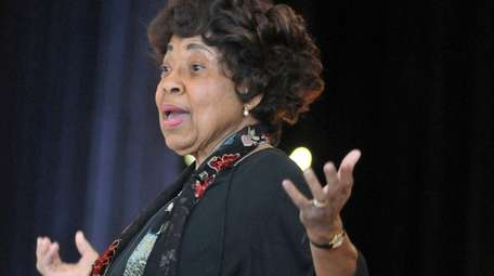 Civil rights leader Dorothy Cotton speaks during Virginia