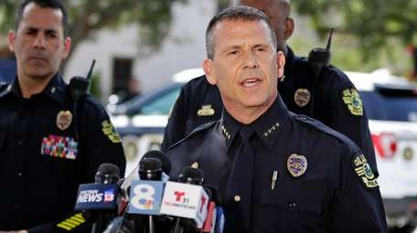 Orlando Police Chief John Mina speaks Monday about