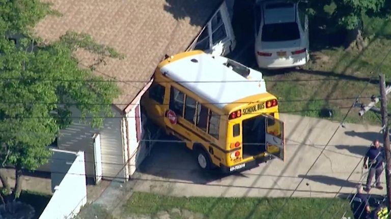 Five elementary schoolchildren suffered minor injuries when their