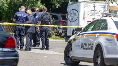 Nassau and Hempstead Village police investigate a crash