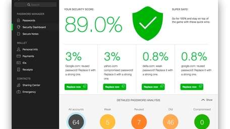 The Dashlane app stores your passwords and encrypts