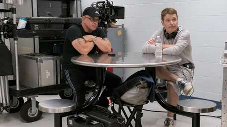 """John A. """"Junior"""" Gotti, left, with director Kevin"""