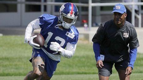 Giants wide receiver Odell Beckham Jr. practices during