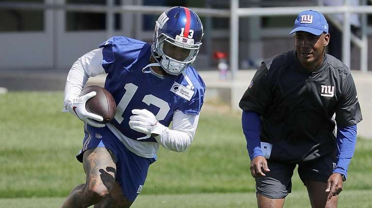 Giants wide receiver Odell Beckham Jr. practices during