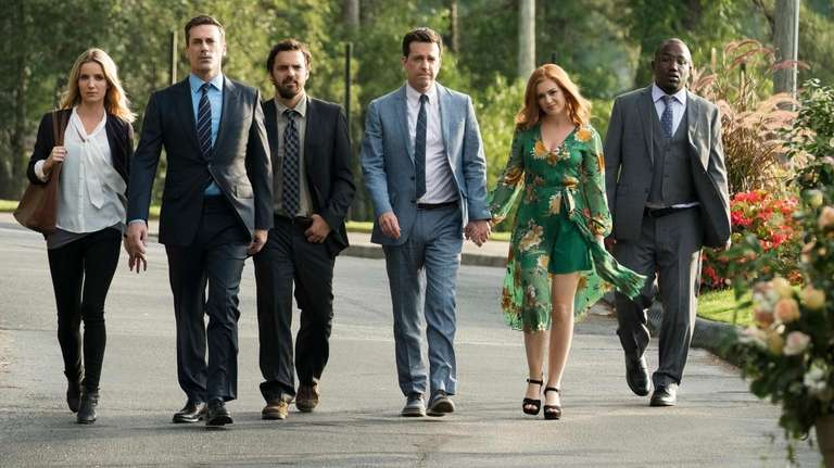"The cast of ""Tag"": Annabelle Wallis, Jon Hamm,"