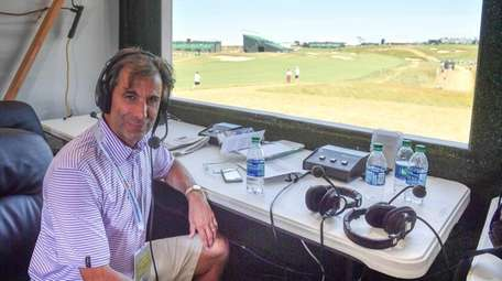 Radio personality Chris Russo broadcasts his SiriusXM radio