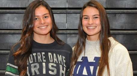 Mt. Sinai senior twins Meaghan Scutaro, left, and