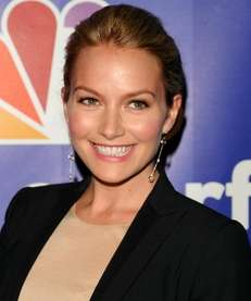 Actress Becki Newton attends the 2010 NBC Upfront