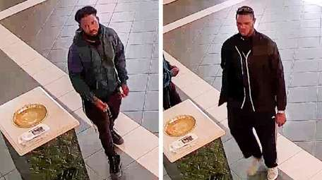 Security photos show the suspects in the theft