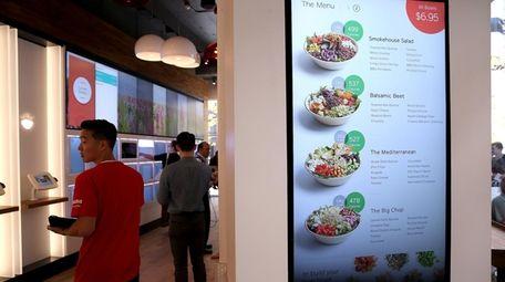 A menu is displayed at eatsa, a fully