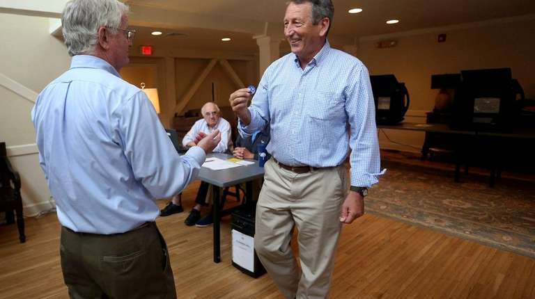 Rep. Mark Sanford (R-S.C.), right, who is running