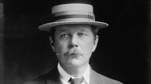 Sir Arthur Conan Doyle in 1913. The writer