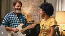 Nick Offerman and Kiersey Clemons play father and