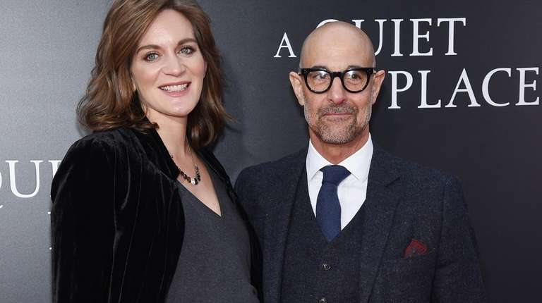 Felicity Blunt and Stanley Tucci attend the premiere