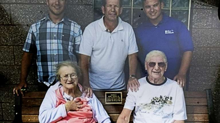 A family photograph taken in 2013: Phyllis Vegh