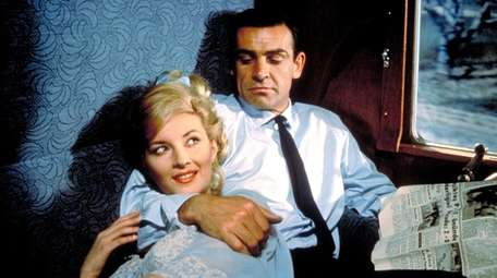 Sean Connery as James Bond with Daniela Bianchi