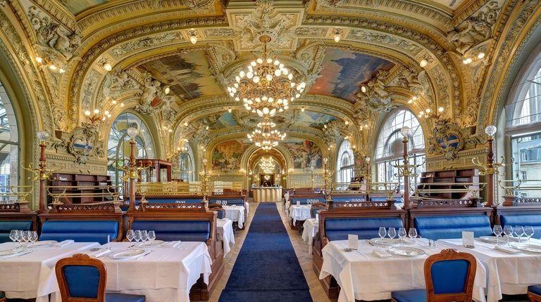 The opulent Train Bleu restaurant, inside Paris' Gare