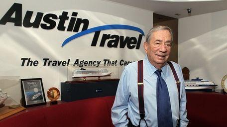 Larry Austin, founder of Austin Travel, seen here