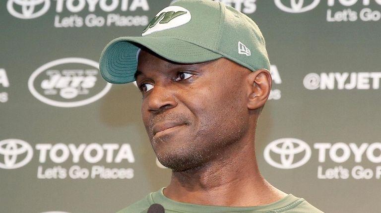 Jets head coach Todd Bowles talks to media