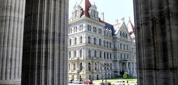The New York State Capitol, where the Senate