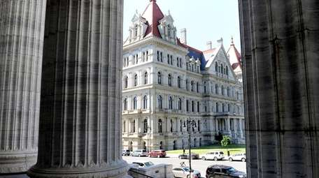 The New York State Capitol, where the Senate