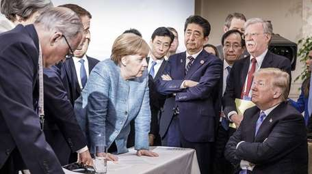 In a German government photo, German Chancellor Angela
