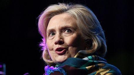 Former U.S. Secretary of State Hillary Clinton speaks