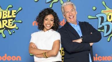 Liza Koshy and Marc Summers of Nickelodeon's