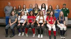 Newsday's All-Long Island softball team at Newsday headquarters