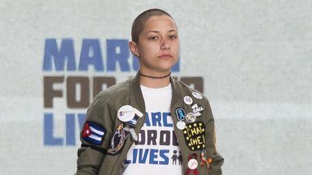 Emma Gonzalez, a survivor of the Parkland, Florida,