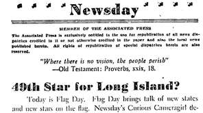 On June 14, 1948, Newsday's editorial board stated,