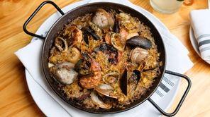 A seafood paella at Meritage Wine Bar in