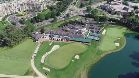 An aerial view of the Garden City Golf