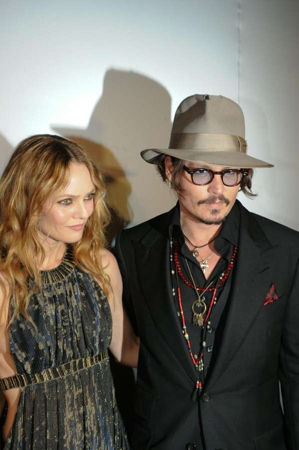 Johnny Depp, right, and his longtime girlfriend Vanessa