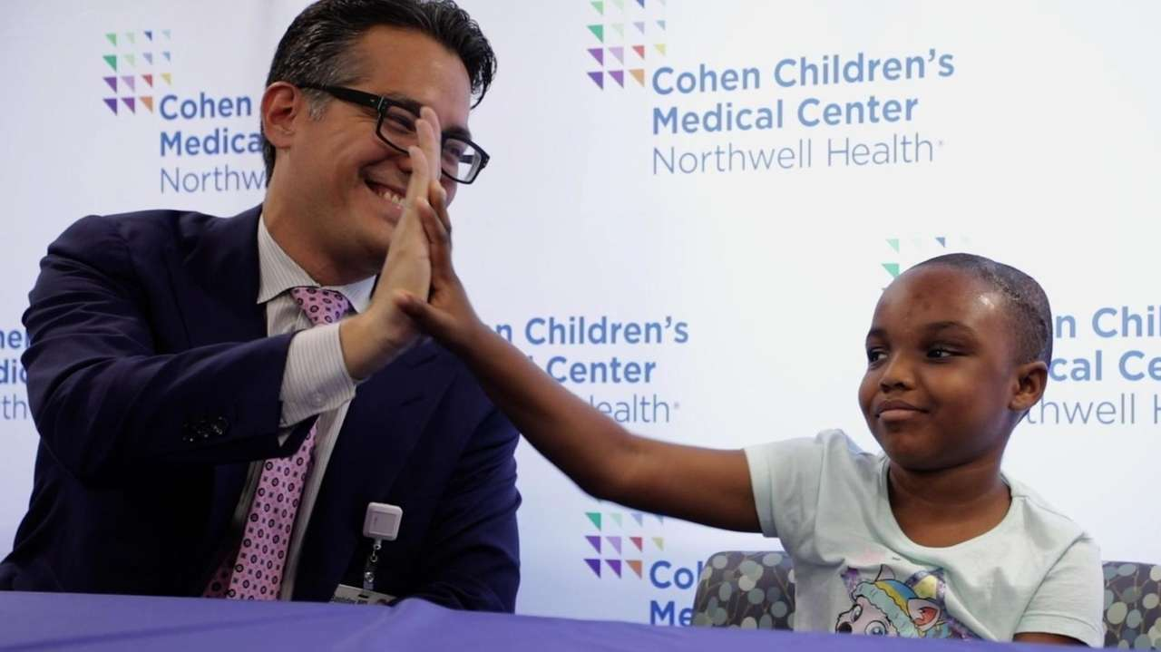 Seven-year-old Savana Patterson of Ghana spoke Thursday at