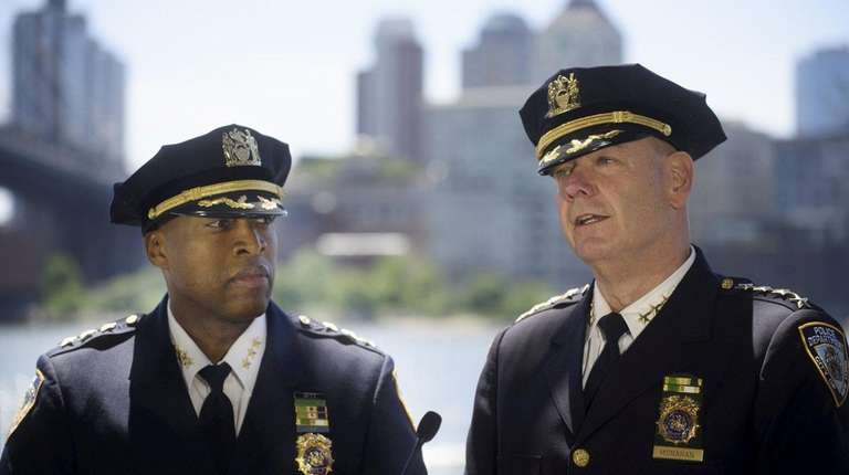NYPD Chief of Patrol Rodney Harrison, left, and
