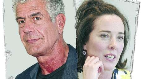 Celebrity chef Anthony Bourdain, left, and fashion designer