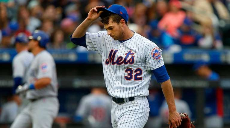 Steven Matz of the New York Mets walks