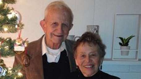 Bill and Joan Holmes of Babylon celebrated their