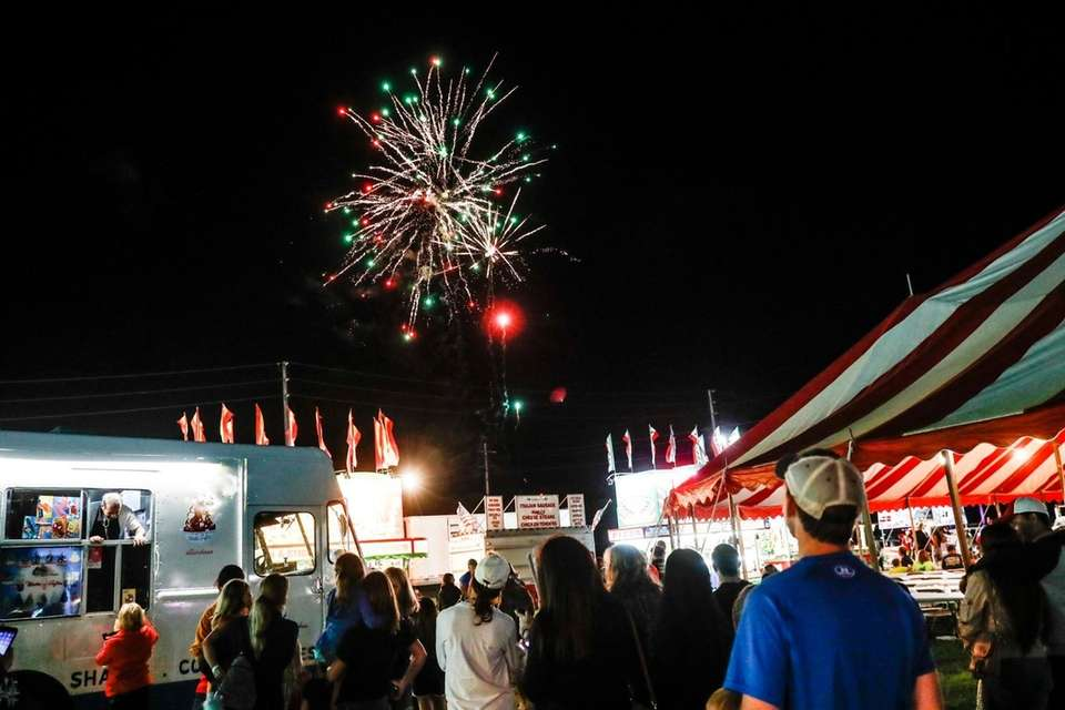 A lite fireworks show at the 64th Annual