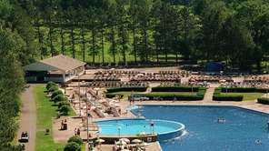 The pool area at the Concord Resort Hotel.