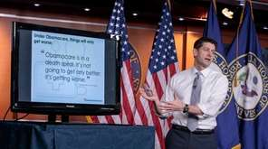 House Speaker Paul Ryan makes his case last