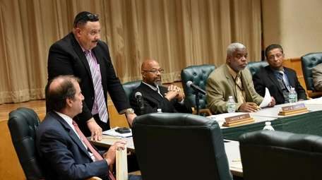 The Uniondale school board prepares to meet in