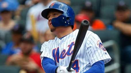 Wilmer Flores, doubling against the Diamondbacks at Citi