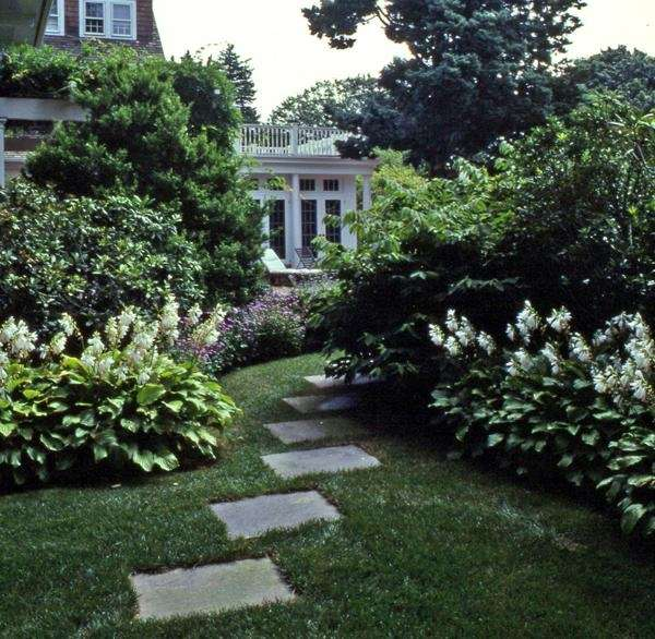 The garden of Lillian and Joel Cohen is