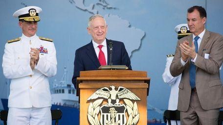 U.S. Defense Secretary James N. Mattis speaks during