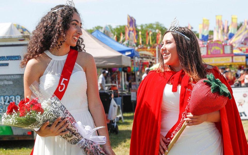 Strawberry Queen runner up Gabrielle Finora, 16, of